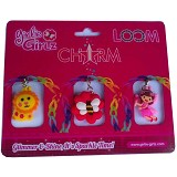 GIRLIE GIRLZ Double Side Charm for Loom Band [TM 3217] - Craft